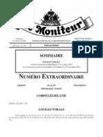 Haiti Loi Électorale de 2013