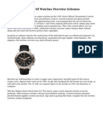 A Topical Overview Of Watches Overview Schemes