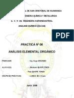 Análisis Elemental Orgánico