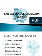 Plan Decenal de Educacion 1992-2002, Rep. Dom.