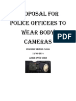 proposal for police officers to wear body cameras