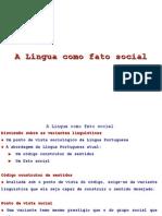 A Língua Como Fato Social
