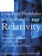 Unsolved Problems Relativity