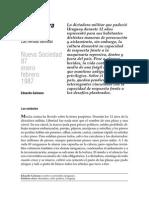 La dictadura y después Galeano