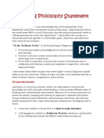 edu 522 final philosophy statement