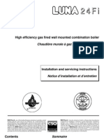 High Efficiency Gas Fired Wall Mounted Combination