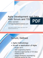 Agile Development and Data With Scrum and TDD 1