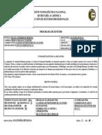Programa Anatomía ESM IPN