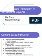 Content-based Instruction in the US and Beyond