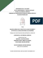 Analisís Jurídico Del Circuito de Lavado de Dinero y Activos en La Legislación Penal Salvadoreña