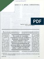 As Forças Armadas e a atual conjuntura nacional - Vice-Almirante Sérgio Tasso Vásquez de Aquino, 1998