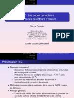 Cours & TD Les codes correcteurs et les codes détecteurs d'erreurs - Claude Duvallet