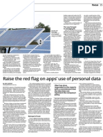 Sunday Star - Raise the red flag on apps' use of personal data