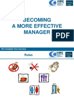 Becoming a More Effective Manager - Slides English
