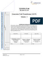 GEMSS-E-08 Rev04Generator Unit Transformer