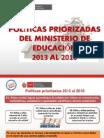 Gestion Escolar Politicas Priorizadas Del Minedu