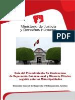 Guía Del Procedimiento No Contencioso de Separación Convencional y Divorcio Ulterior