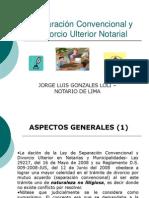 Separación Convencional y Divorcio Ulterior Perú