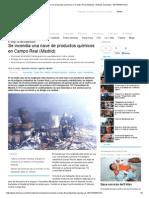 Se Incendia Una Nave de Productos Químicos en Campo Real (Madrid) - Noticias Sociedad - InFORMATIVOS