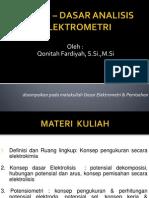 Dasar _ Dasar Analisis Elektrometri (Pendahuluan)