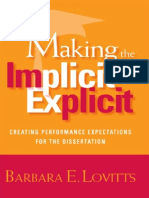 Making the Implicit Explicit Creating Performance Expectations for the Dissertation