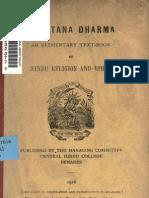 Sanatan dharma An Elementary Book of Hindu Religion and Ethics