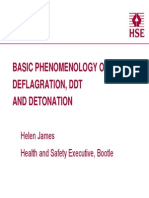 4. Basic Phenomology of Deflagration, Ddt and Detonation