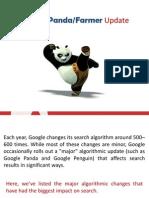 History of Panda Google Algorithm Updates