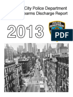 NYPD Annual Firearms Discharge Report 2013