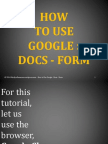 How To Use Google Docs - Form