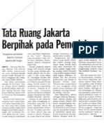 Koran Tempo - Tata Ruang Jakarta Berpihak Pada Pemodal