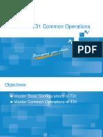 NetNumen T31 Common Operations