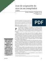 Tecnicas de asignacion de registros en un compilador