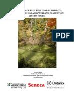 Ontario Wetland Evaluation - Belt Line Pond