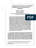 Effects of Physical Attractiveness of the Plaintiff and Defendant in Sexual Harassment Judgments