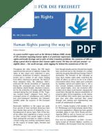 Human Rights paving the way to EU
