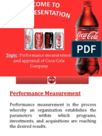 Performance Appraisal of Coca Cola