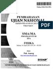 Pembahasan Soal UN Fisika SMA 2013 Paket 3