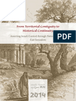 From Territorial Contiguity to Historical Continuity - Asserting Israeli Control through National Parks in East Jerusalem