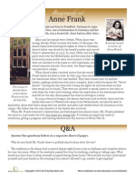 Anne Frank Worksheet
