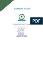 Open University of Tanzania Prospectus 2014 2015