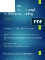 Consumer Satisfaction Through Online Purchasing