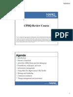 CPHQ Review Course Nov 28-29 2012