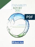 Sustainability Report 2013 Bankasia
