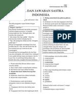 Contoh Soal Dan Jawaban Sastra Indonesia kelas XI