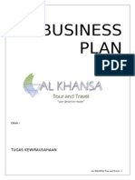 Proposal Business Plan Al KHANSA TOUR & TRAVEL