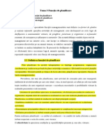 Tema 2 Funcția de Planificare