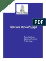 Técnicas de Intervencion Grupal