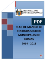 Plan Manejo RRSS Comas Julio 2014 Echo Por Alternativa