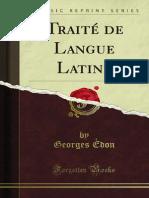 Traite de Langue Latine
